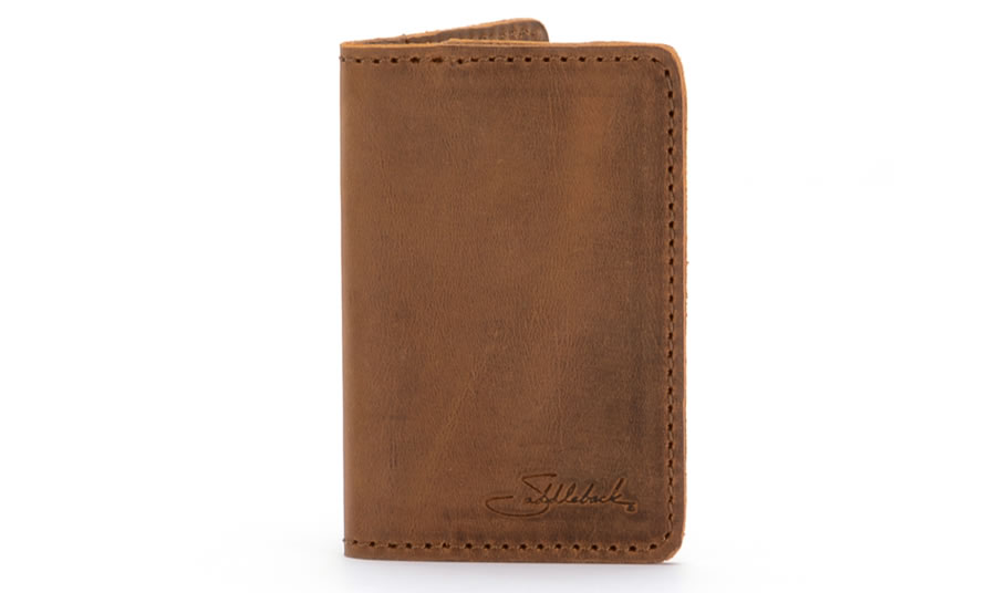 Saddleback Leather Business Credit Card Wallet in Tobacco