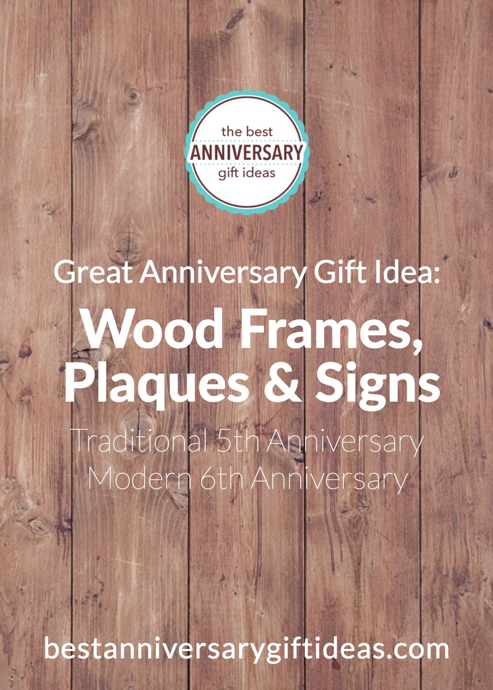 Wood Frames, Plaques and Signs Anniversary Gifts